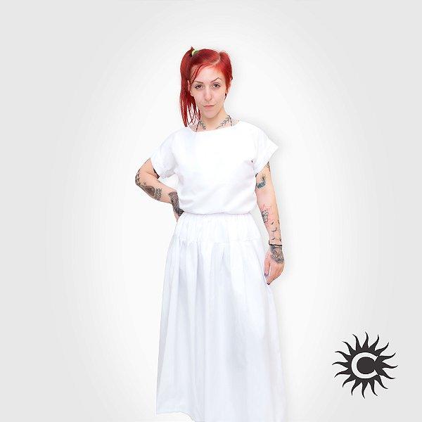 Conjunto Micro Fibra - Branco Feminino   Tamanho M