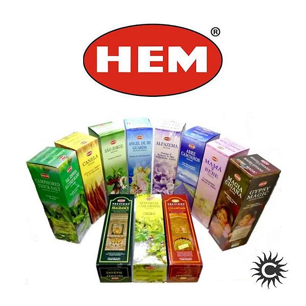 Incenso - HEM - Caixa com 8 varetas - ALFAZEMA
