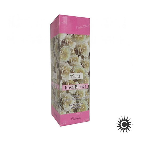 Incenso - VINATI - BOX com 25 caixas - ROSA BRANCA