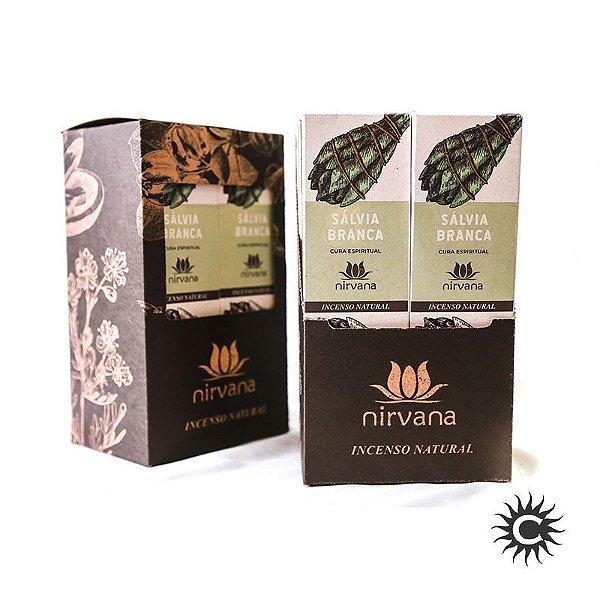 Incenso - Natural Nirvana Caixa com 12 - Salvia Branca