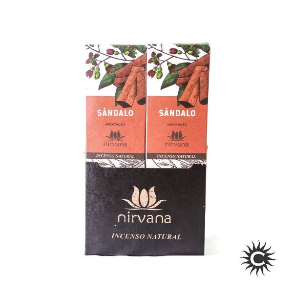 Incenso - Natural Nirvana Caixa com 12 - Sândalo