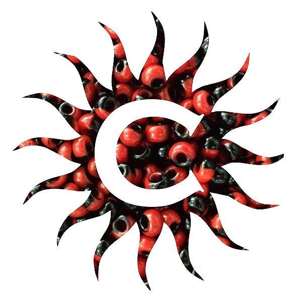 Missanga - Rajada - 500g - Vermelho e Preta