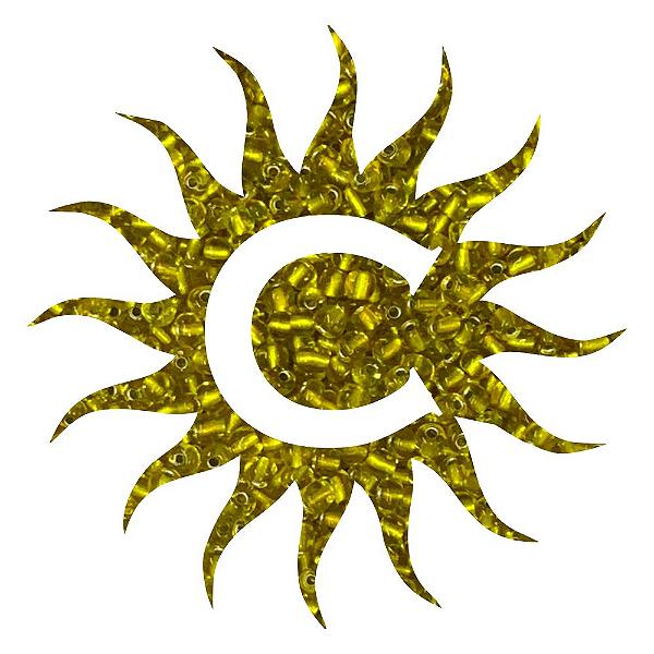 Missanga - Cristal - 500g - Amarela