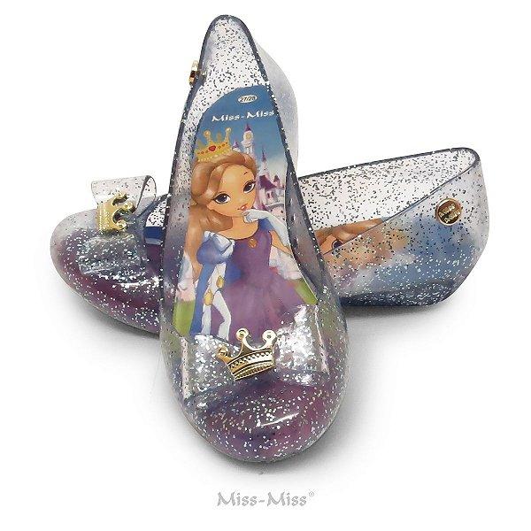 Sapatilha Infantil Princess - Azul Gliter