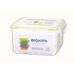 Pote com 4 Divisórias Komax Retangular em Plástico - 700 ml - Transparente / Amarelo