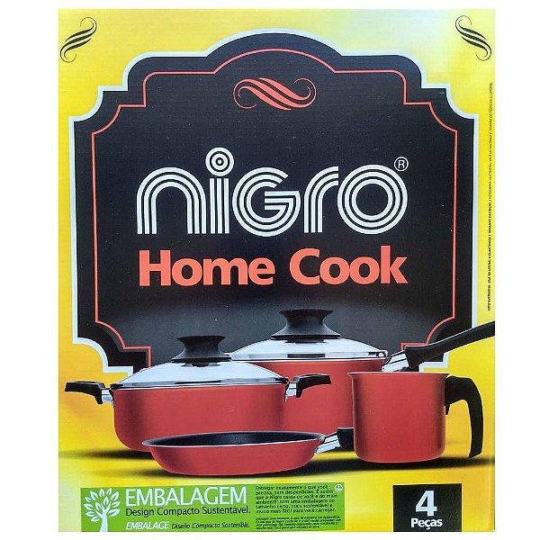 Conjunto de panelas Home Cook - 4 Pçs