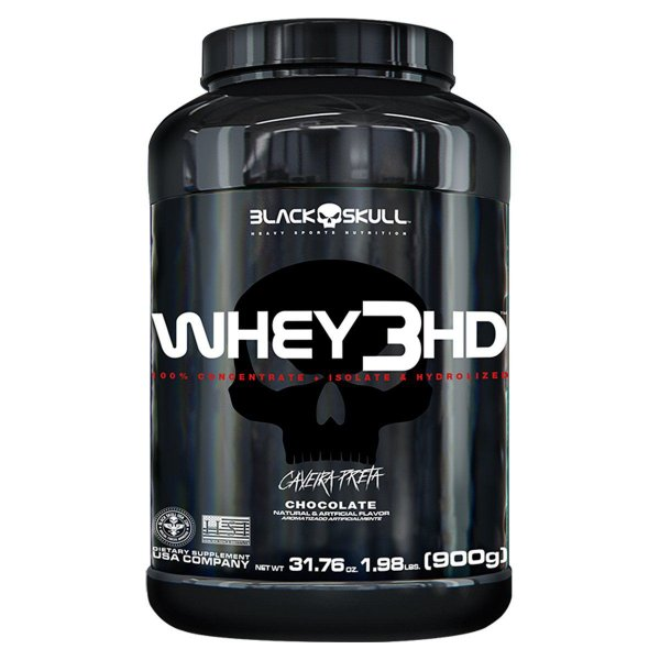 Whey 3HD 907g - Black Skull