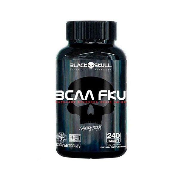 BCAA FKU 240 Tabletes Caveira Preta - Black Skull