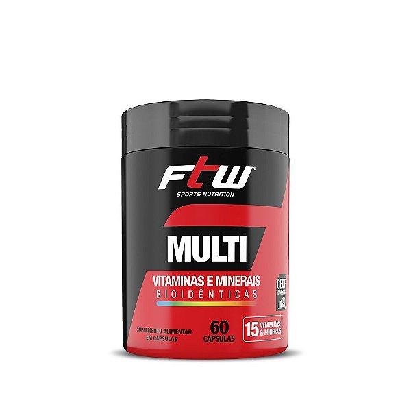 Multi Vitaminas e Minerais 60caps - FTW Sports Nutrition