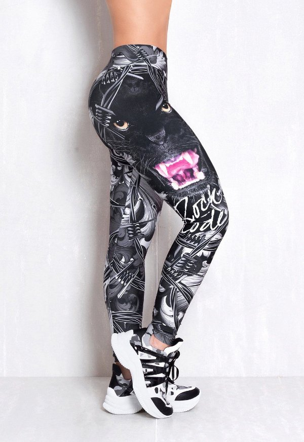 LEGGING ELASTIC PANTHER BLACK ROCK CODE