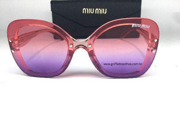 Oculos de Sol Borboleta Miu Miu - Armação transparente Mesclado