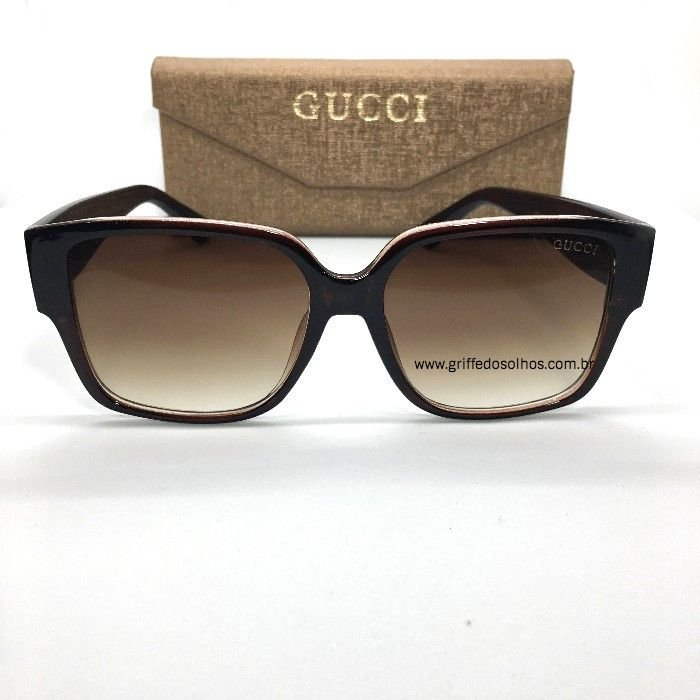 Óculos  de Sol Gucci - Quadrado Marrom Feminino