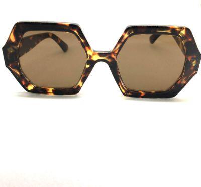 Óculos de Sol Anya - Octagonal  - Animal Print Leopardo