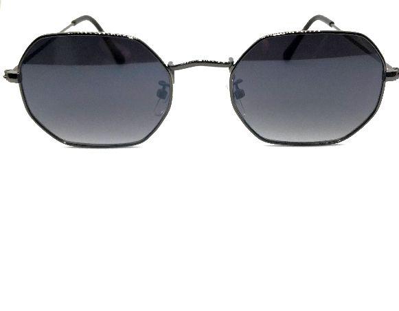 Óculos de Sol Octagonal 1.0 Preto Metal Unissex