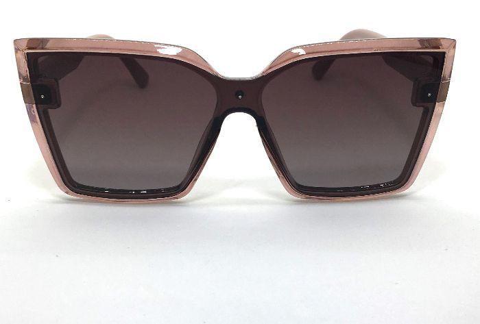 Óculos de Sol Gatinho Kely - Armação Transparente Vinho