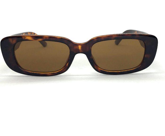 Óculos  Retangular John  - Retrô Vintage  Leopardo