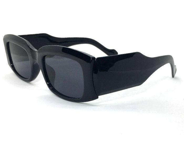 Óculos De Sol Aria - Retangular Retrô Preto