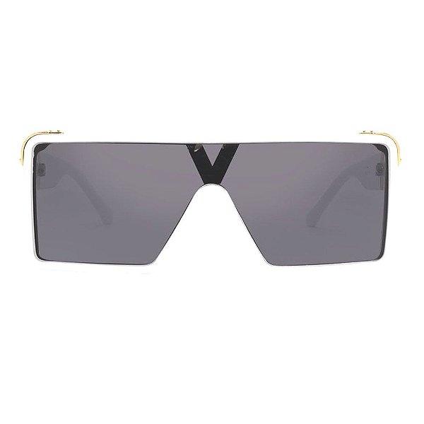 Óculos Harmon Quadrado - Óculos Mascara  Armação Branca