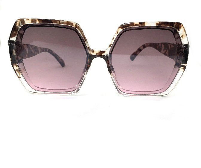 Óculos de Sol Anya Octagonal - Armação Animal Print