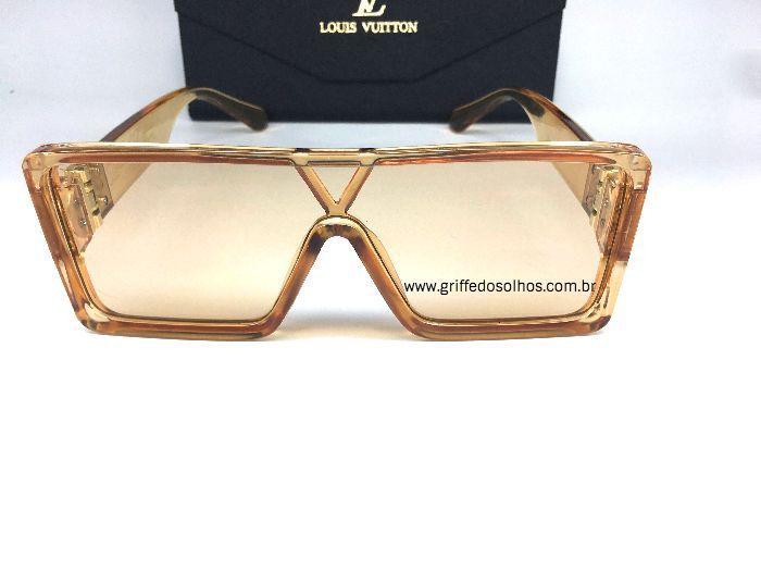 Oculos Quadrado Louis Vuitton Square - Armação Bege