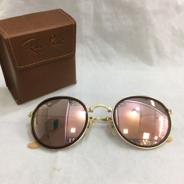 d748bf7fb Ray Ban RB3517 Round Folding Dobravél Rose Gold - Griffe dos Olhos ...