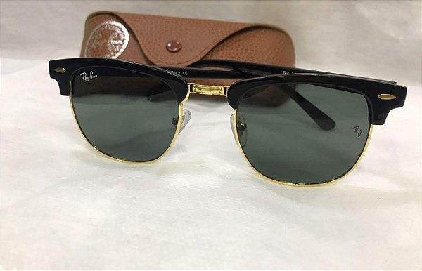 637128ba1805a Óculos de Sol Clubmaster Lente Verde RB3016 - W0365 49 - Griffe dos ...