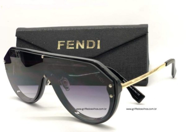 Fendi Máscara FF-M0039   Monogram /  Gradiente Oculos de Sol