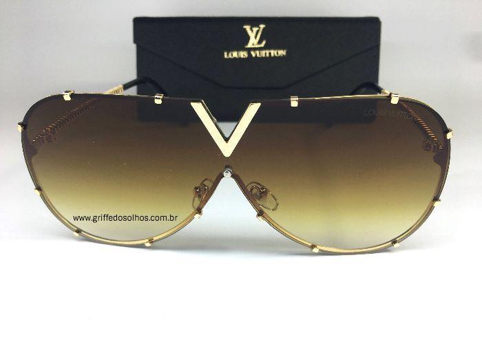 Óculos  de Sol - Louis Vuitton Drive Evidence Luxo Marrom