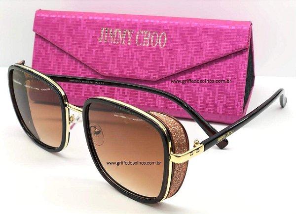 Jimmy Choo Glitter Rose - ELVAS 2M2 T4 A - Óculos de Sol