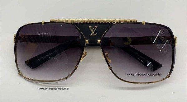 Louis Vuitton - Quadrado Silver Masculino Óculos de Sol