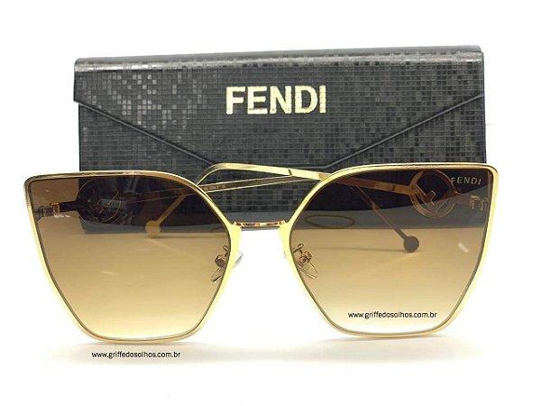 Óculos de Sol Fendi FF 0323/S S45/M2 Armação Dourado