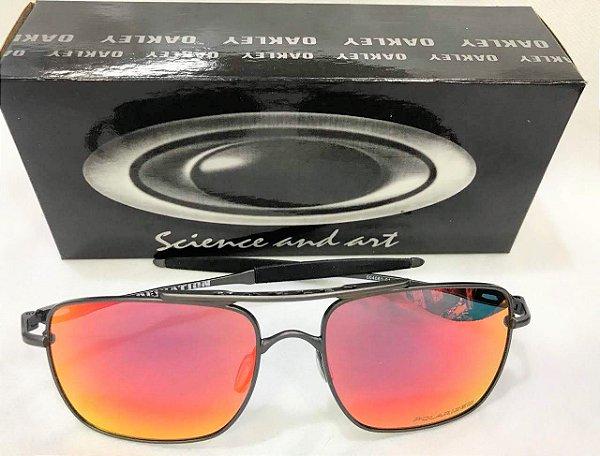 Óculos De Sol Oakley Espelhado Deviation OO4061 04 - Ruby Iridium ... ad6ee084f8