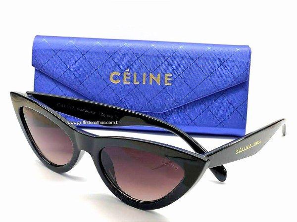 Cat Eye Céline Paris - Óculos de Sol Gatinho/ Preto