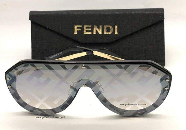 Óculos de Sol  Fendi   Fendi Máscara Espelhado Monogram FF M0039/G/S 2M2 7Y