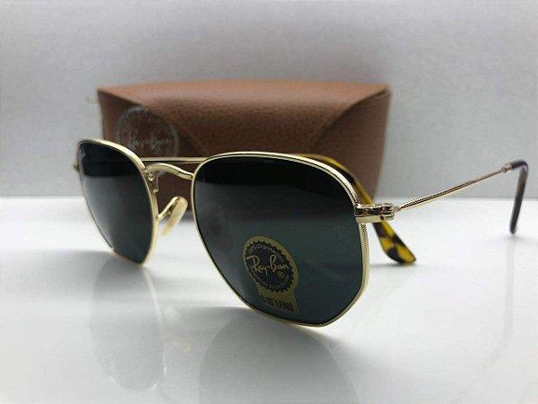 Ray Ban Verde - RB3548-N - Óculos de Sol Hexagonal - Griffe dos ... 7cdd5eb583