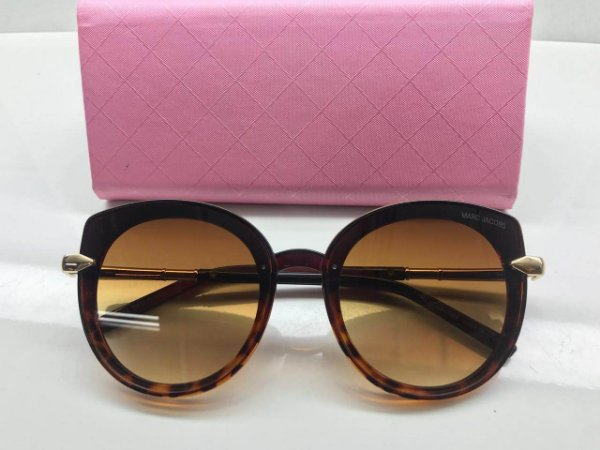 Óculos Marc Jacobs Oval Exclusivo   Lente Marrom - Griffe dos Olhos ... 0bb43ffe86