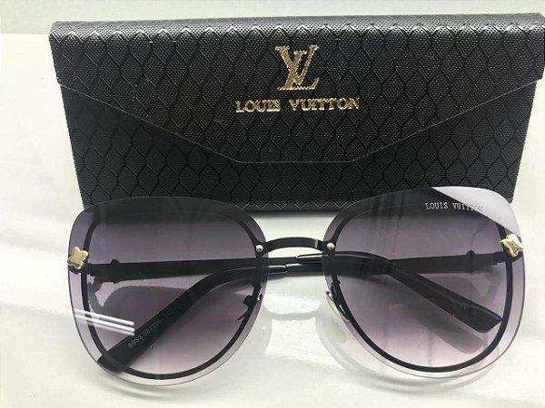 21b268d7f5e97 Óculos De Sol Louis Vuitton Cinza Feminino - Griffe dos Olhos ...