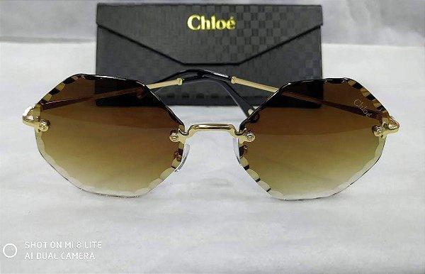 ca0760620cf78 Chloé Rosie Octagonal CE143S 742 Marrom Gradiente - Griffe dos Olhos ...