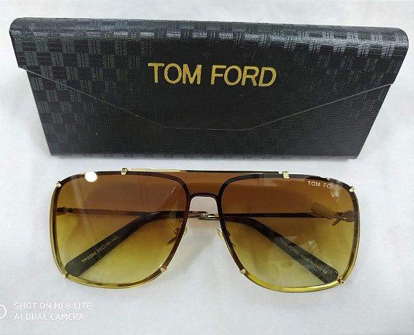 e9a9681a5f5c8 Óculos de Sol Masculino Tom Ford Masculino - Quadrado Marrom 2019 ...