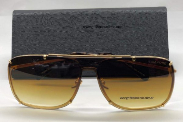 Óculos de Sol Masculino Tom Ford Masculino - Quadrado Marrom 2019