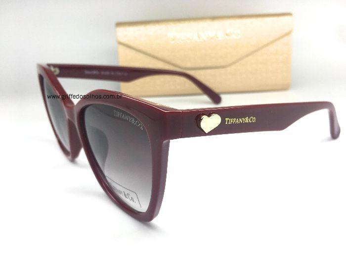 Óculos de sol Gatinho Tiffany / Bordo