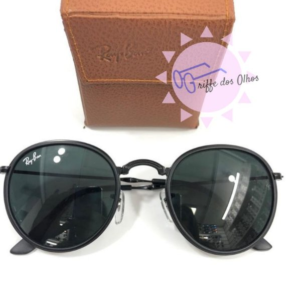 f6b05eee43 Ray Ban RB3517 Round Folding - Dobravél Preto - Griffe dos Olhos ...
