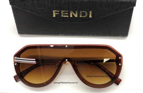 Óculos de Sol Fendi  Máscara FF-M0039 Lentes  Monogram Lente Gradiente