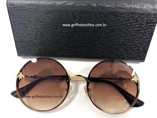 d45700ff2 Óculos de Sol Redondo Gucci - Bee Abelha - Griffe dos Olhos ...