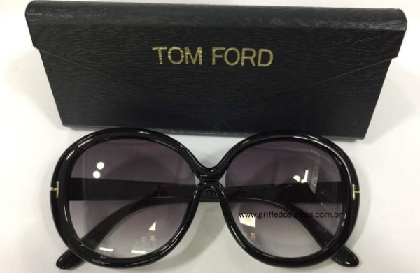 Óculos de Sol Tom Ford Redondo Preto FT038801 GISELLA