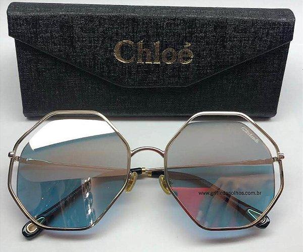 413d299da Óculos Sol Chloe Hexagonal Degrade Eyewear - Feminino Redondo ...
