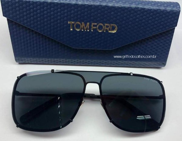Óculos de Sol Masculino Tom Ford Masculino - Quadrado Preto