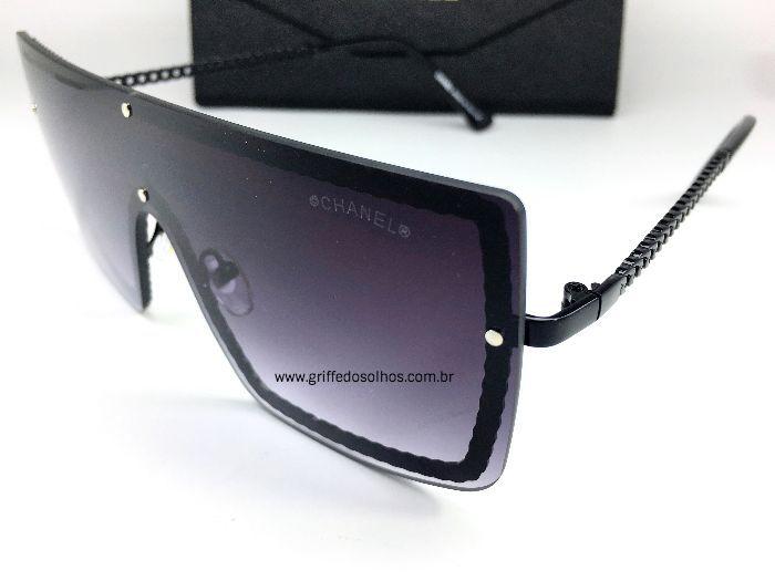 Oculos Quadrado Chanel - Armação Corrente / Preto