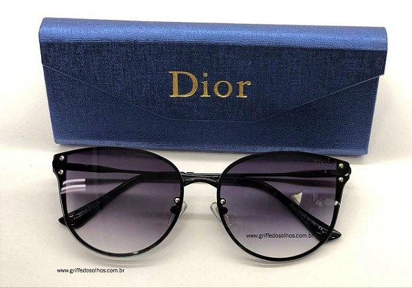 Óculos de Sol - Dior Cateyes Gatinho  Preto Tamanho 50