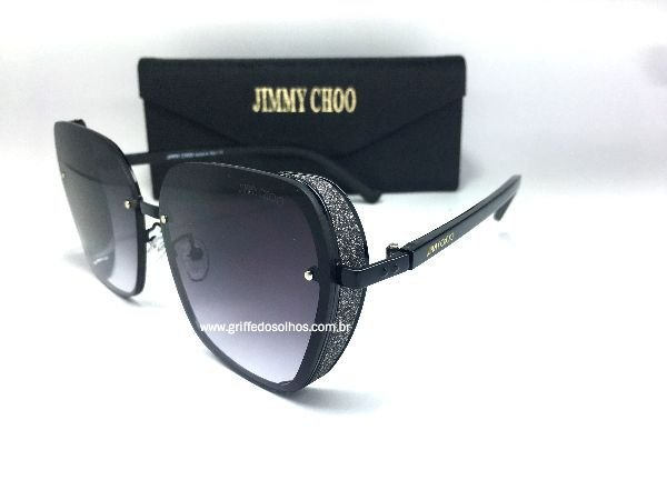 Jimmy Choo  Butterly Glitter - Oculos de Sol / Brilhoso
